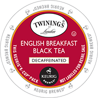 Twinings - Decaf English Breakfast Black Tea K-Cups