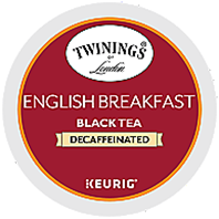 Twinings - Decaf English Breakfast Black Tea K-Cup Packs