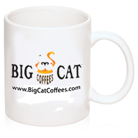 Big Cat Coffees - Diner Style 11oz Coffee Mug - Color Logo